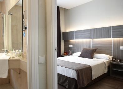 Habitación doble cama de matrimonio Hotel Serrano Madrid